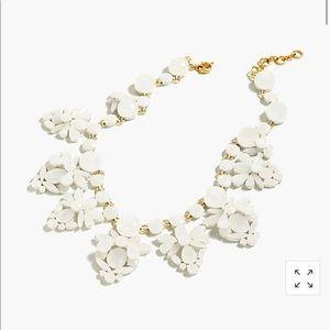 J crew crystal fan necklace